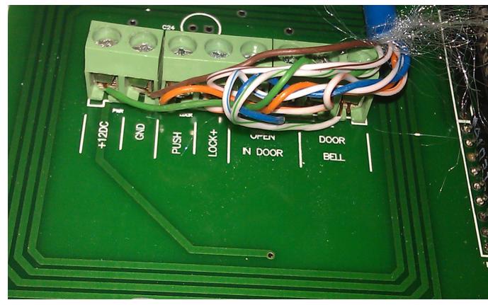 单门门禁系统组图及内部接线图详解