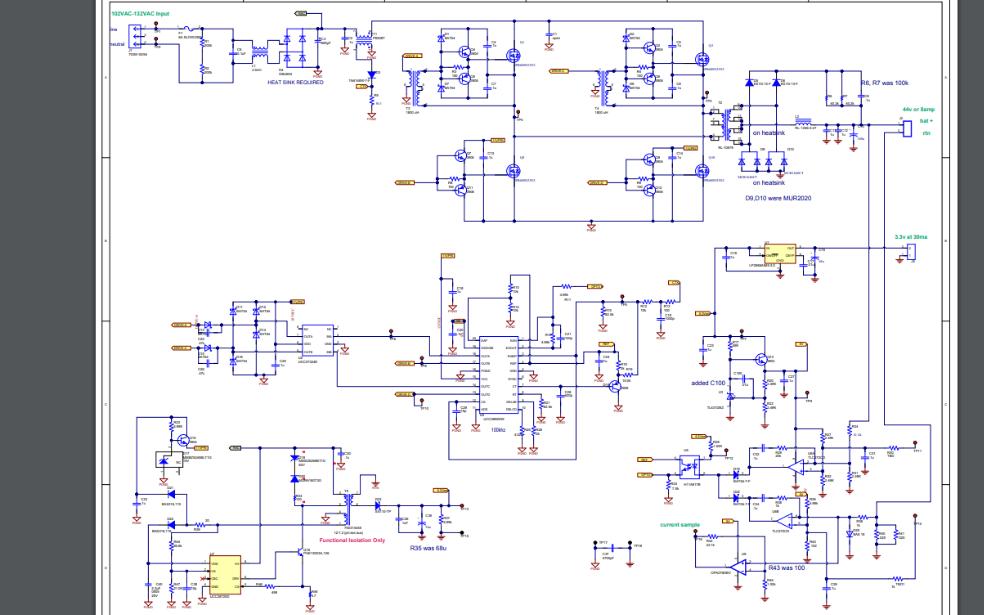 350W移相全橋變換器的開關電源電路原理圖免費下載