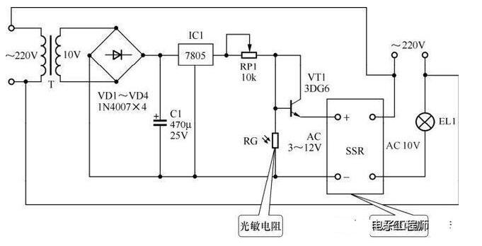 简单的光控照明电路分析
