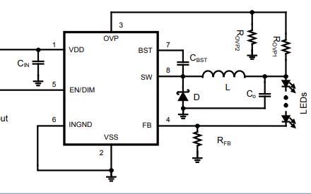 MP24833A白色LED驱动器的数据手册免费下载