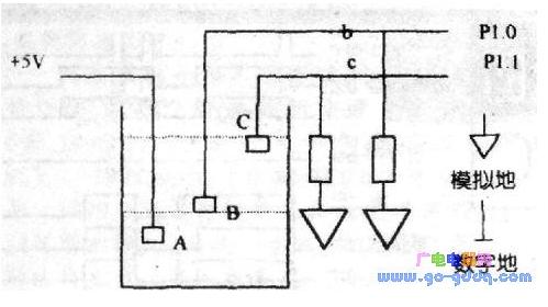8051單片機供水系統水位控制的硬件電路設計