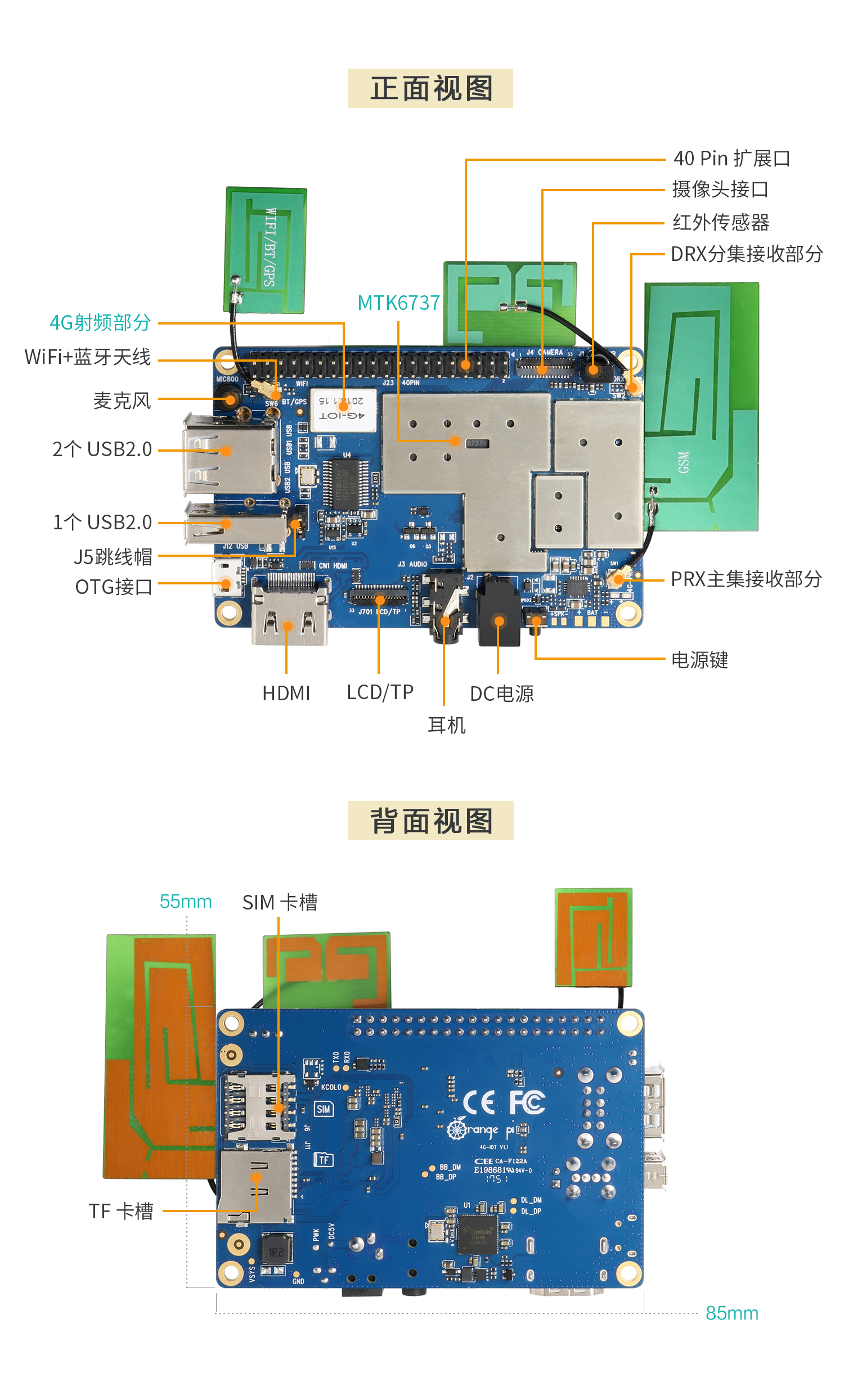 香橙派Orange Pi 4G-IOT解析