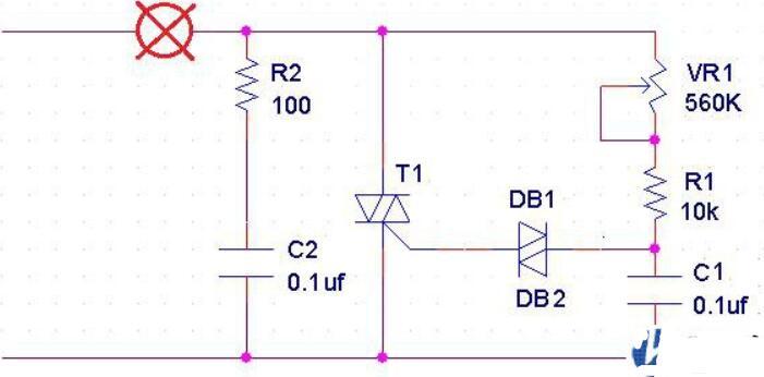 调光台灯原理电路图