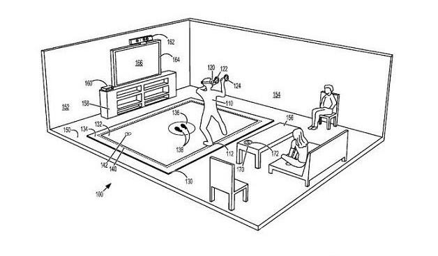 微软具有触觉反馈的VR系统