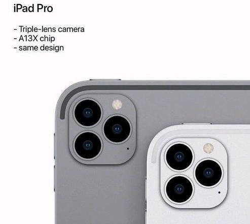 新款iPad Pro曝光采用了后置矩阵式三摄设计与iPhone 11 Pro系列相似