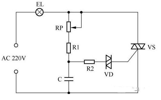 基于晶闸管控制的台灯电路图
