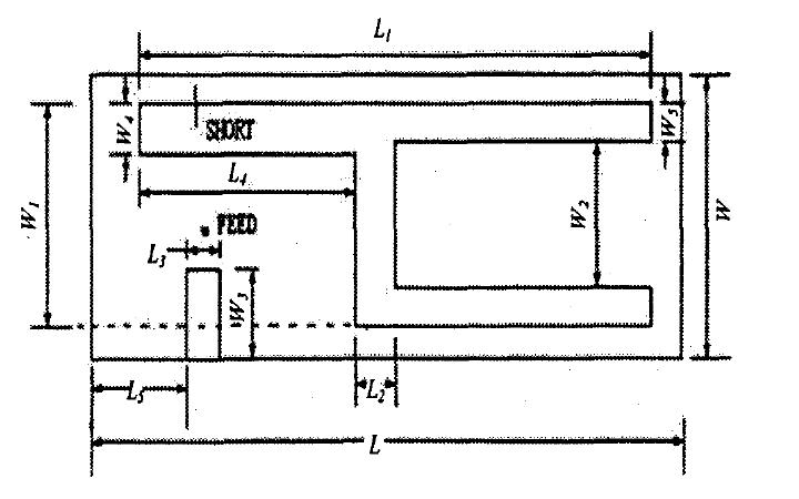 设计及仿真一种新型平面倒置F型三频手机天线的详细资料说明