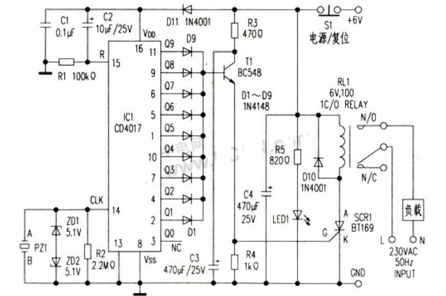 振动传感器应用电路_四款压电陶瓷振动传感器报警电路