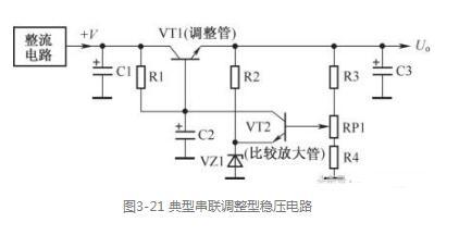 典型串联调整型稳压电路分析