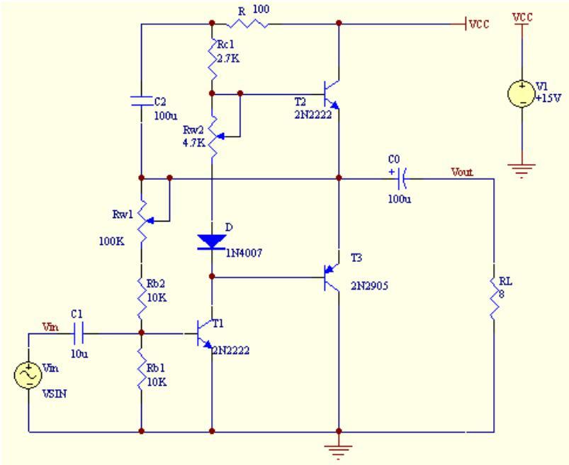 低频功率放大器电路分析