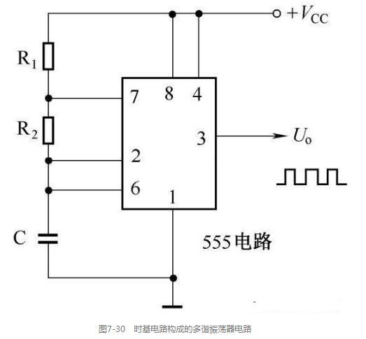 基于时基电路的多谐振荡器电路图