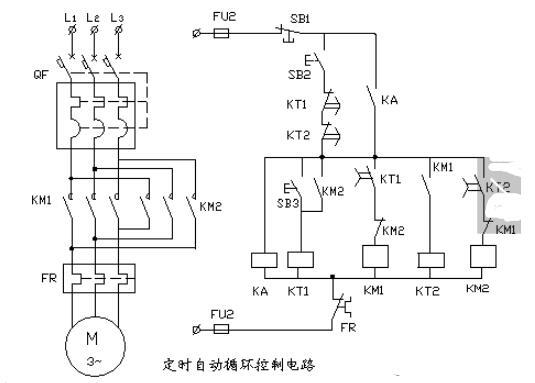 自動循環控制電路圖