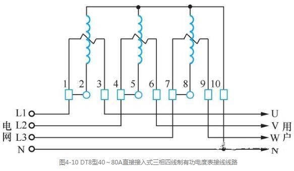 三相电度表的安装方法_三相电度表的接线图