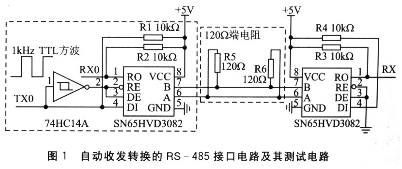 基于半双工接口芯片SN65HVD3082的零延时RS-485接口电路设计