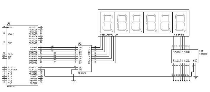 基于51单片机实现数码管显示的proteus仿真设计
