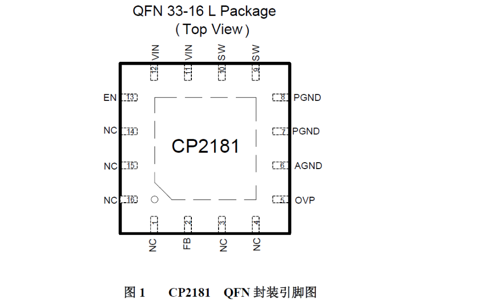CP218升压型LED驱动器的数据手册