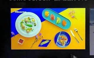 海信广交会展出世界首款屏幕发声激光电视