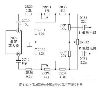 四款立体声平衡控制器电路图分析