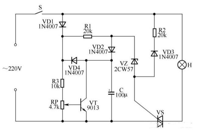 两款白炽灯软启动延寿电路图分享
