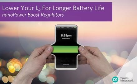 nanoPower boost 升压调节器MAX17222