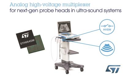 意法半导体推出高集成64通道高压模拟开关芯片
