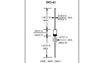 1N4001普通塑封整流二极管的数据手册免费下载