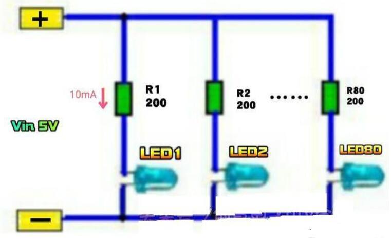 5v發光二極管電路圖