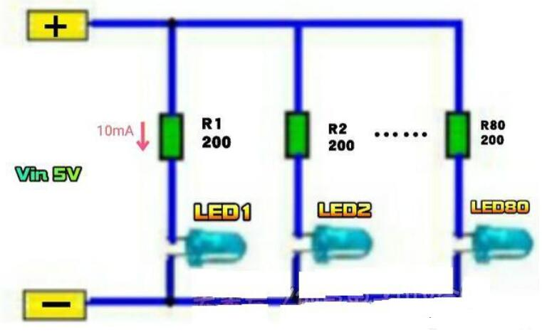 5v发光二极管电路图