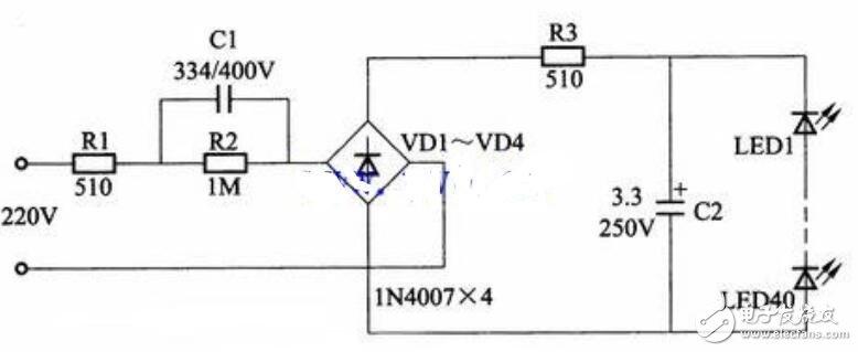 48v电动车led灯电路图