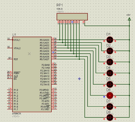 AT89C51单片机的流水灯控制设计