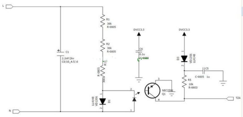 三款220v交流检测电路