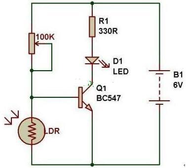 光控开关电路图