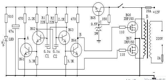 三款工频逆变电源电路图