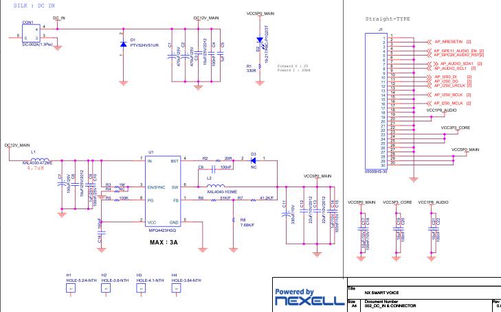 NXP4330智能语音系统的电路原理图合集免费下载