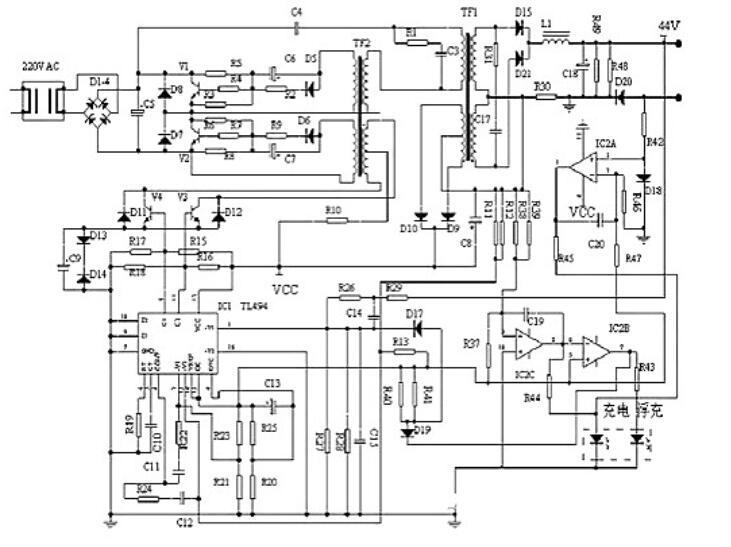 五款电动车充电器电路图讲解
