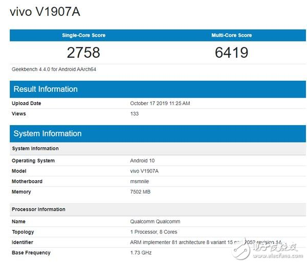 高通首款5GSoC处理器曝光 GK4单核跑分2758分多核6419分