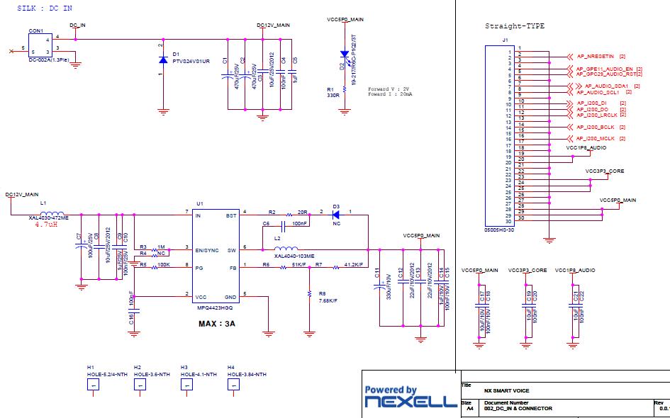 NXP4330智能语音音频板的电路原理图免费下载