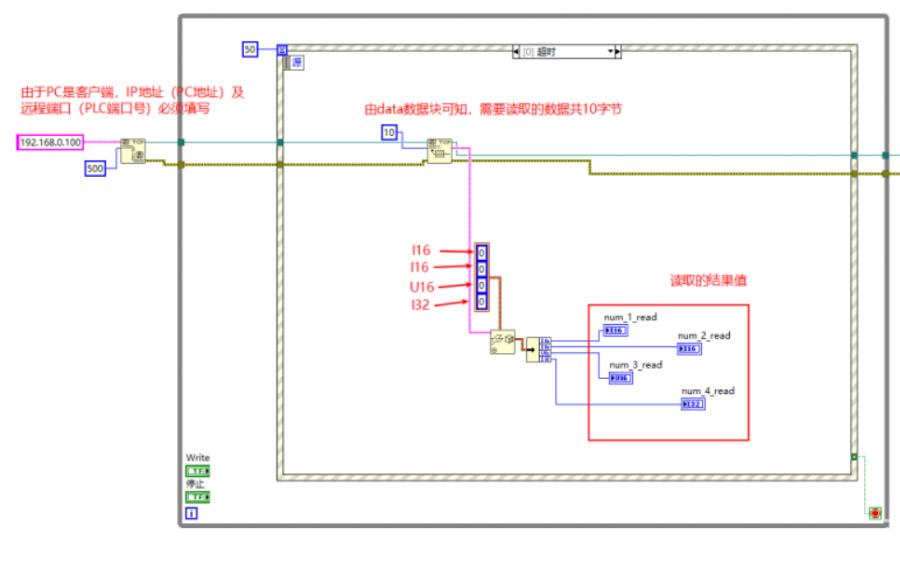 Labview通過TCP協議與PLC交互的程序免費下載