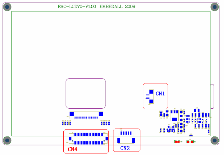 EAC-LCD70T接口示意图,输入端口(CN4)定义说明