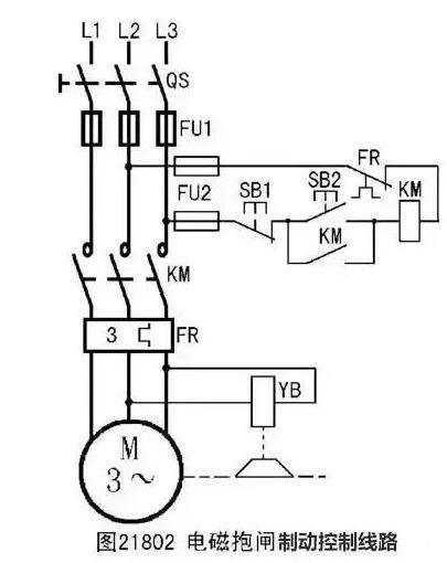 两种电磁抱闸制动控制线路
