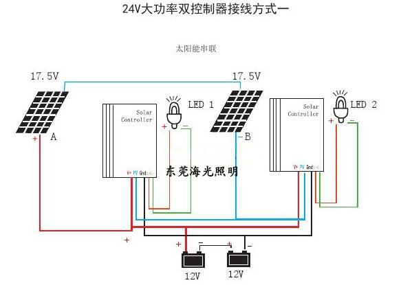 太阳能路灯控制器接线图