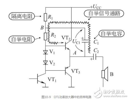 OTL功率放大器中的自举电路图