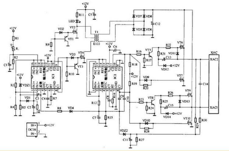 多款车载逆变器电路图