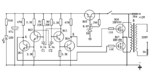 簡單逆變器電路圖