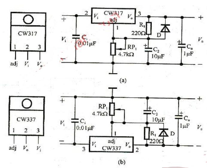 五款三端稳压器典型应用电路