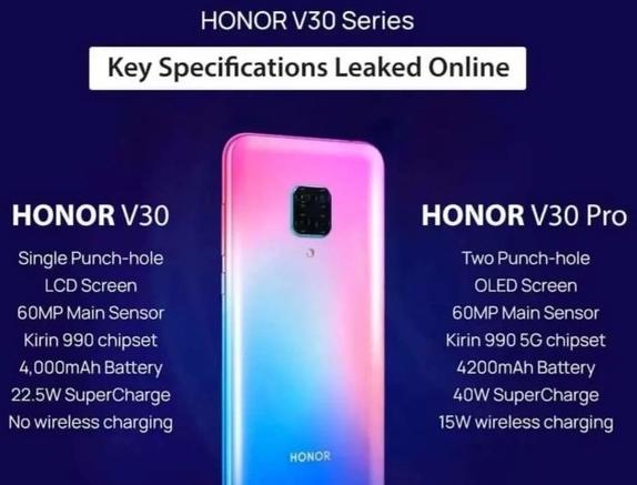 荣耀首款5G手机荣耀V30将于下个月发布支持全网通5G
