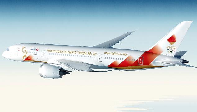 日本公开了东京2020奥运会圣火特别运输机TOKYO 2020号的造型