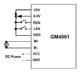 直流電機正反轉控制PLC調速模塊GM4001的方式