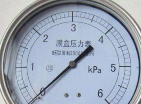 不銹鋼膜盒壓力表的工作原理及特點