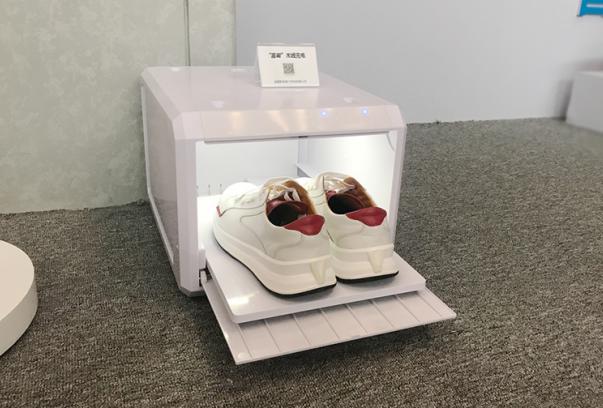 全球首款磁共振隔空无线充电智能鞋亮相